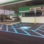 Gas station handicap parking