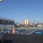 New handicapped parking lot