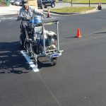 Painting parking spots